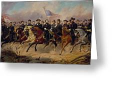 Grant And His Generals Greeting Card