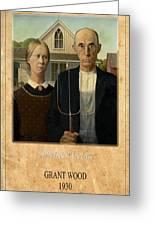 Grant Wood 1 Greeting Card