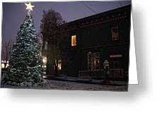 Grants Pass Town Center Christmas Tree Greeting Card
