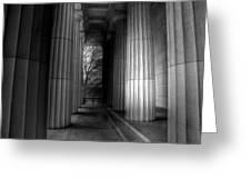 Grant's Tomb Columns Greeting Card