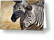 Grant's Zebras_b1 Greeting Card
