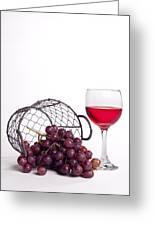 Grape Juice Greeting Card