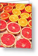 Grapefruit And Oranges Greeting Card