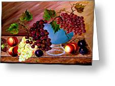 Grapefully Your's Greeting Card