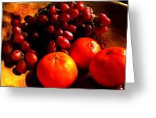Grapes And Tangerines Greeting Card