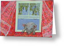 Grapes At The Window Greeting Card