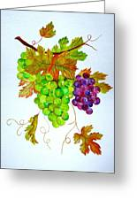 Grapes Greeting Card by Elena Mahoney