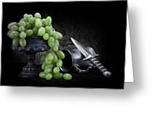 Grapes Of Wrath Still Life Greeting Card