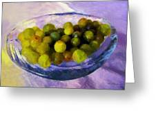 Grapes On The Half Shell Greeting Card