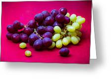 Grapes White And Red Greeting Card