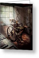 Graphic Artist - The Humble Printing Press Greeting Card