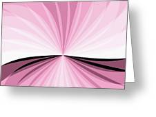 Graphic Pink And White Greeting Card