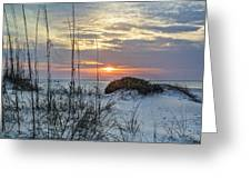 Grass And Mound Sunrise Greeting Card
