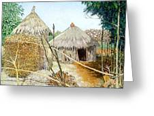 Grass House Greeting Card