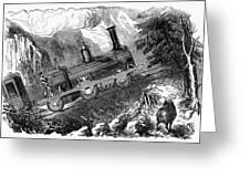 Grassi Locomotive, 1857 Greeting Card