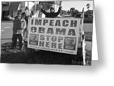Grassroots Impeach Obama Movement Greeting Card