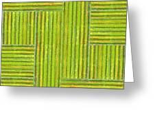 Grassy Green Stripes Greeting Card