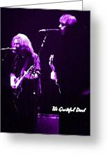 Grateful Dead In Purple - Concerts Greeting Card