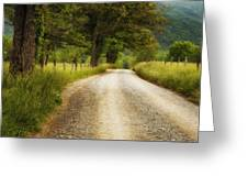 Gravel Road In The Smokies Greeting Card by Andrew Soundarajan