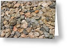 Gravel Stones Greeting Card