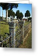 Graveyard Art Greeting Card