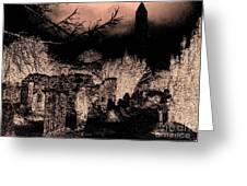 Graveyard At Night Greeting Card