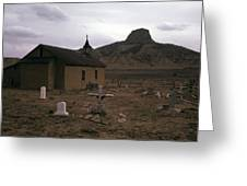 Graveyard Church Cabezon Peak Ghost Town Cabezon New Mexico 1971 Greeting Card