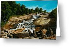 Graveyard Falls Blue Ridge Parkway Greeting Card
