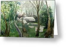 Graveyard Greeting Card