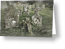 Graveyard Monuments And Gravestones Greeting Card