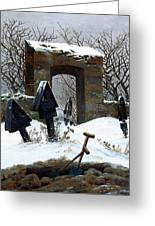 Graveyard Under Snow Greeting Card