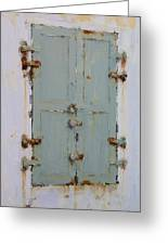 Gray And Rusted Greeting Card