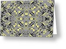 Gray And Yellow No. 1 Greeting Card
