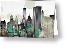 Gray City Beams Greeting Card