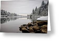Gray Day In Lake Oswego Greeting Card