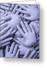 Gray Hands Greeting Card