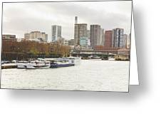 Gray Side Of Paris Greeting Card