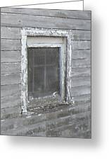 Gray Window Greeting Card