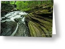 Waterfall - Grayville Everlasting Greeting Card