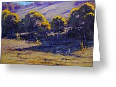 Grazing Kangaroos Greeting Card
