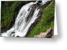 Great Angle Of Red Blanket Falls Greeting Card