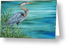 Great Blue Heron-2a Greeting Card