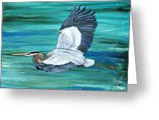 Great Blue Heron-3a Greeting Card