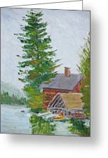 Great Camp Sagamore Boat House Greeting Card