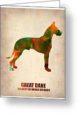Great Dane Poster Greeting Card by Naxart Studio