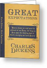 Great Expectations By Charles Dickens Book Cover Poster Art 1 Greeting Card