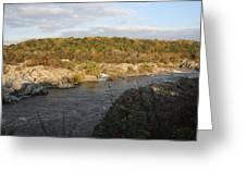 Great Falls Down River Fall Greeting Card