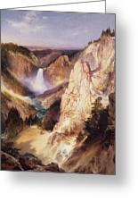 Great Falls Of Yellowstone Greeting Card