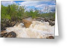 Great Falls White Water #5 Greeting Card