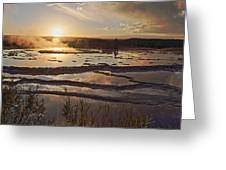 Great Fountain Geyser Greeting Card